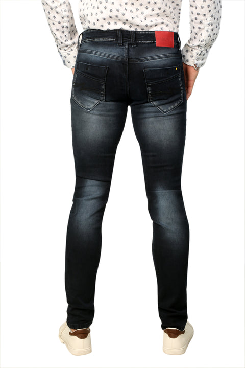 Styrrior 2229 - Slim Fit Blackish Blue Mid Rise Clean Look Denim
