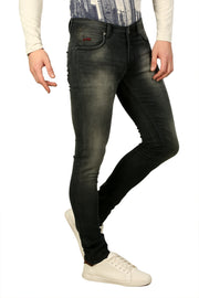 Styrrior 2232 - Ultra Slim Mid Low Rise Fit Dark Green Knitted Denim
