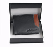 Styrrior 2244 - Black & Tan Leather Two Fold Wallet