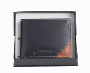 Styrrior 2246 - Black & Tan Leather Two Fold Wallet
