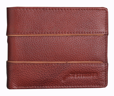 Styrrior 2249 - Tan Leather Two Fold Stripe Wallet