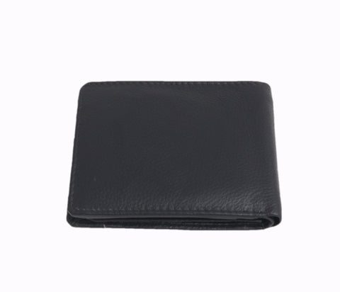 2250 - Black Leather Textured Two Fold Wallet