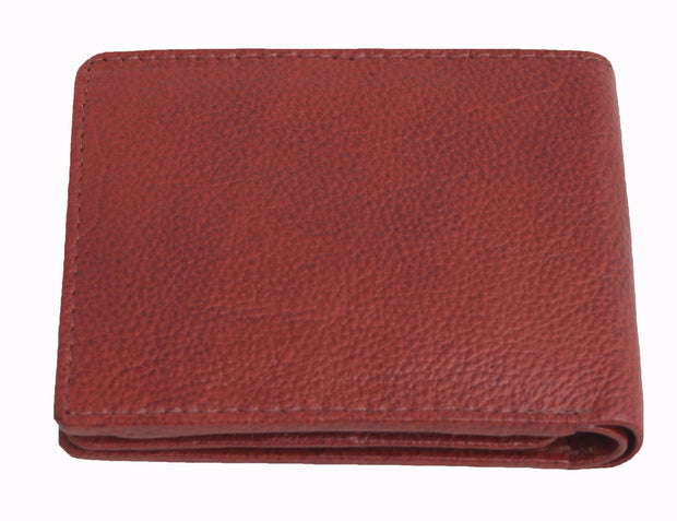 Styrrior 2256 -Reddish Tan Leather Textured Two Fold Wallet