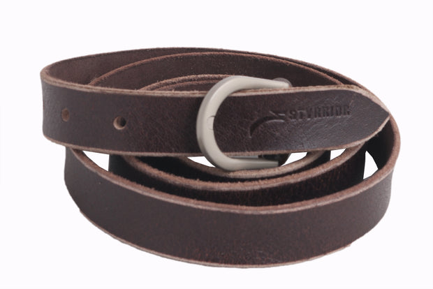 Styrrior 2258 - Brown Super Slick Unisex Leather Belt