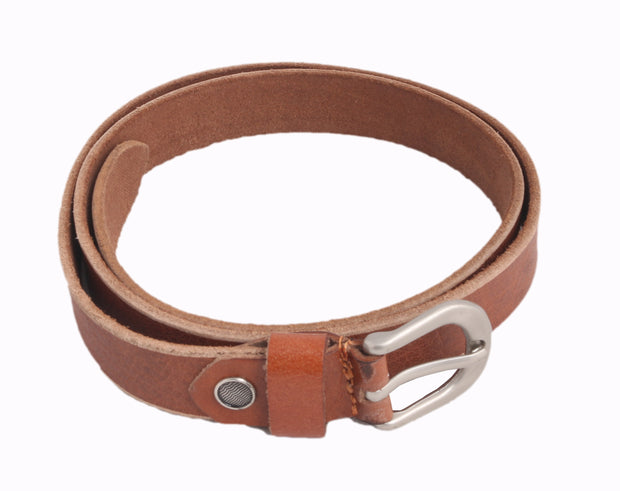 Styrrior 2259 - Tan Super Slick Unisex Leather Belt