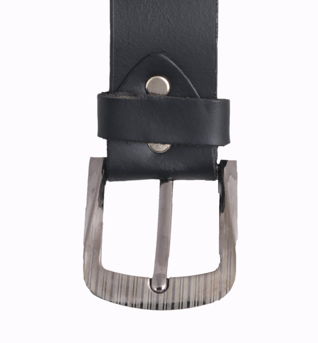 Styrrior 2260 - Solid Matte Black Leather Belt