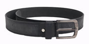 Styrrior 2261 - Solid Black & Grey Leather Belt