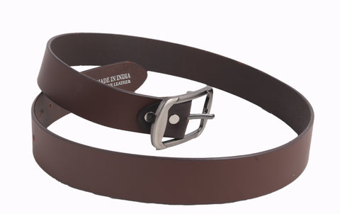 Styrrior 2265 - Solid Matte Brown Leather Belt