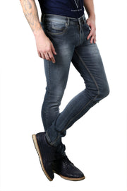 Styrrior 2101- Super Slim Knitted Greenish Blue Denim