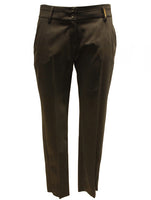 Ladies designer fashion trousers ankle length in black