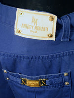 Mens Designer Fashion Shorts in Blue by Antony Morato