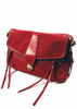 Ladies Designer Fashion Handbag by Francesco Biasia Across The Sky in Red or Tan