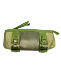Ladies Designer Fashion Handbag/Clutch by Francesco Biasia Bag Vanya in Two Tone Design in Green or Pink