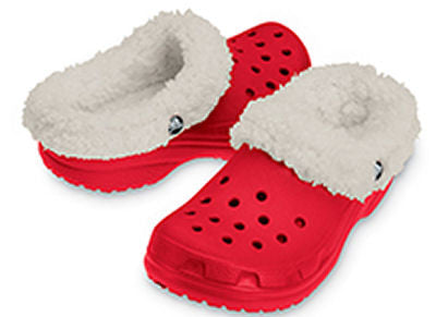 Kids Crocs Slipper Style Mammoth in Red Free Jibbitz Charms