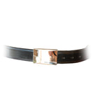 Mens Leather Belt Hadrian by Daniel Christian with Stainless Steel Buckle in Black