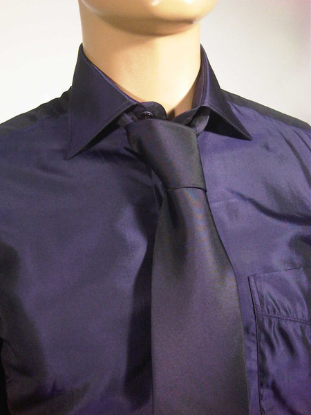 Mens Designer Fashion Shirt & Tie Box Set Elsa in Sapphire Purple