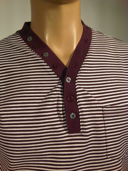 Mens Designer Fashion T-Shirt Roman by Daniel Christian in Purple Stripe