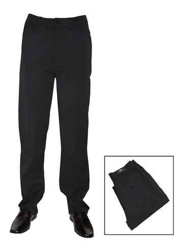 Mens Designer Fashion Trousers Roman from Daniel Christian in Black