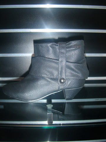"Boots by Hoyvoy with 2"" Low Heel in Black"