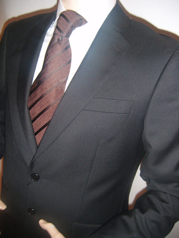 Mens Designer Suit by Daniel Christian in Black Matt