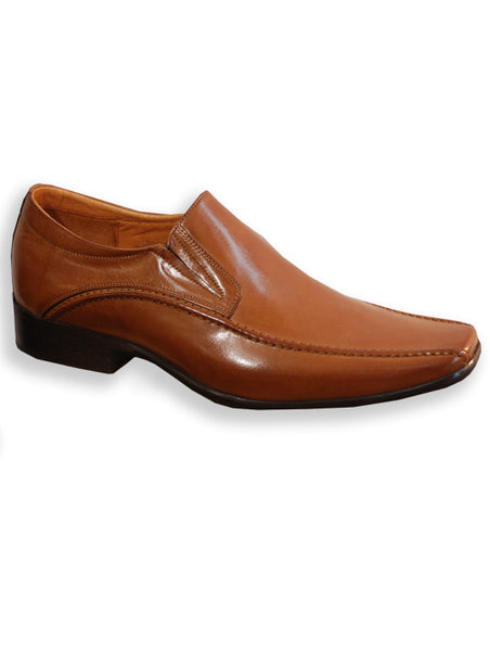 Mens Designer Fashion Shoes Andora by Front London in Real Leather Tan