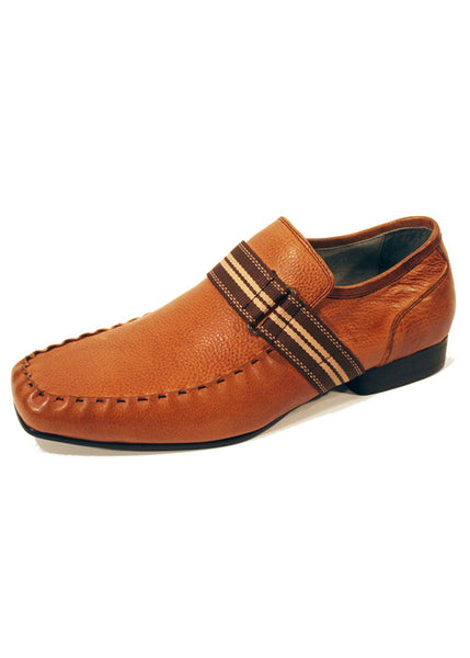 Mens Designer Fashion Shoes Havana by Front London in Real Leather Tan