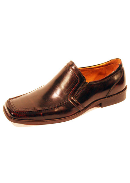 Mens Designer Fashion Shoes Keysoe by Front London in Real Leather Brown