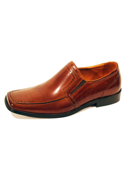 Mens Designer Fashion Shoes Keysoe by Front London in Real Leather Tan