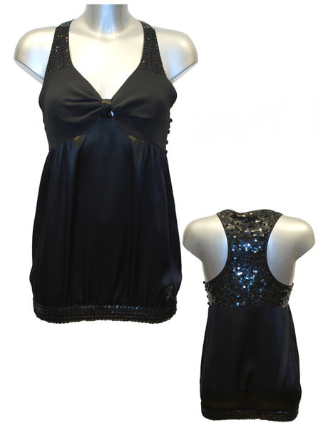 Ladies Designer Fashion Dress from Guess by Marciano Short Style with Sequins in Black