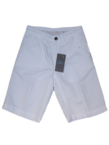 Mens Designer Fashion Shorts from Guess by Marciano with Zipper Fly in White