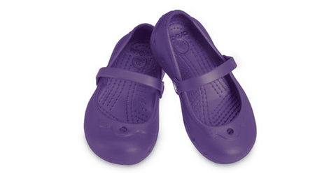 Kids Crocs Cinderella Style Alice in Purple