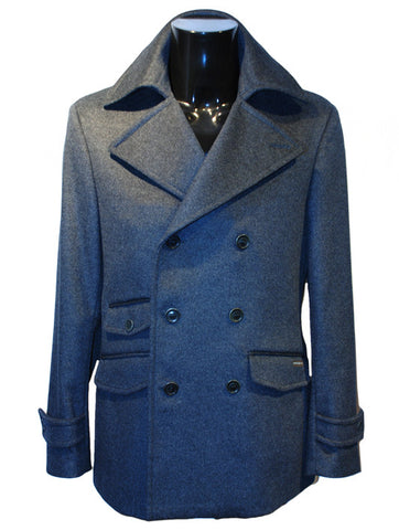 Mens Designer Fashion Coat from Guess by Marciano 3/4 Length in Grey