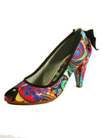 Ladies Designer Fashion Shoes by Hoyvoy Floral Design in Blue & Summer Colours