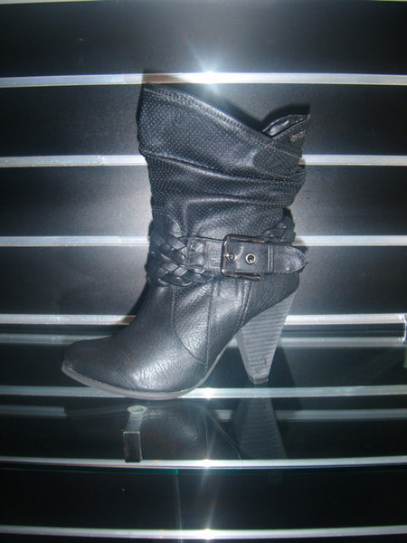 Ladies Designer Fashion Boots by Hoyvoy with Spotted & Belt Buckle Design