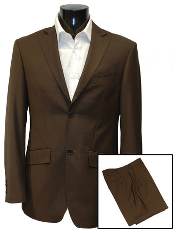 Mens Designer Suit by IDentikit in Chocolate Brown
