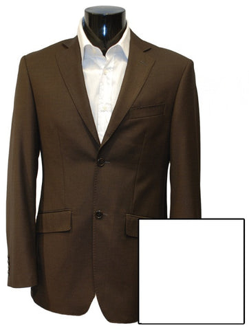 Mens Designer Fashion Sports Jacket by IDentikit in Chocolate Brown