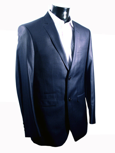 Mens Designer Suit by IDentikit in a Wonderful Navy Shine Effect