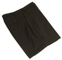 Mens Designer Fashion Trousers by IDentikit in Black Pinstripe