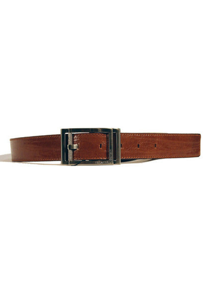 Ladies Designer Leather Belt Factory in Brown Crinkled/Distressed Effect by Francesco Biasia