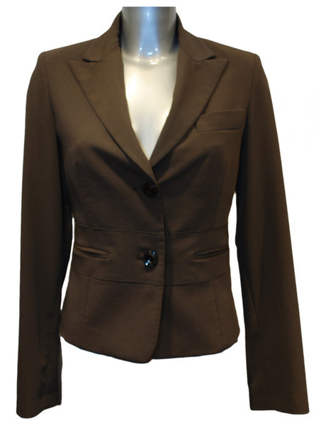 Ladies Designer Fashion Suit Jacket from Guess by Marciano in Light Brown with Brown Designer Lining