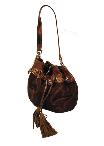 Ladies Designer Fashion Handbag by Francesco Biasia Magda in Brown