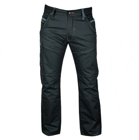 Mens Jeans by Mish Mash Soot Straight Leg Style with Dark Denim Effect Back