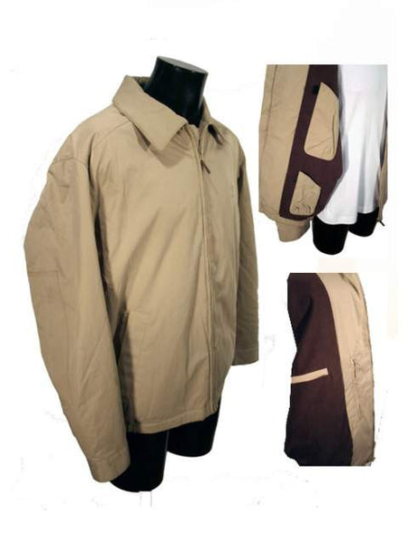 Mens Designer Fashion Coat by Paul & Shark 3/4 Length in Beige