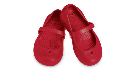 Kids Crocs Cinderella Style Alice in Ruby Red
