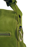Ladies Designer Fashion Handbag by Francesco Biasia Ruth with Single Top Strap in Green