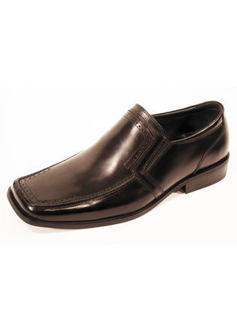 Shoes Front London Keysoe in Real Leather Black