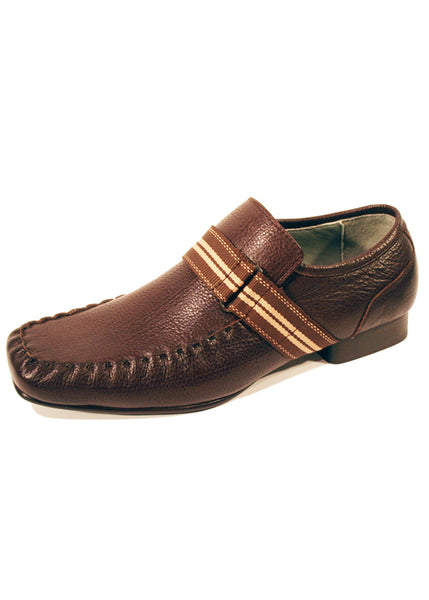 Copy of Shoes Front London Havana in Real Leather Dark Brown