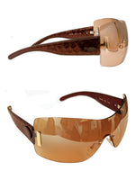 Ladies Designer Fashion Sunglasses by Francesco Biasia with Bronze Snakeskin Rims & Tinted Lenses
