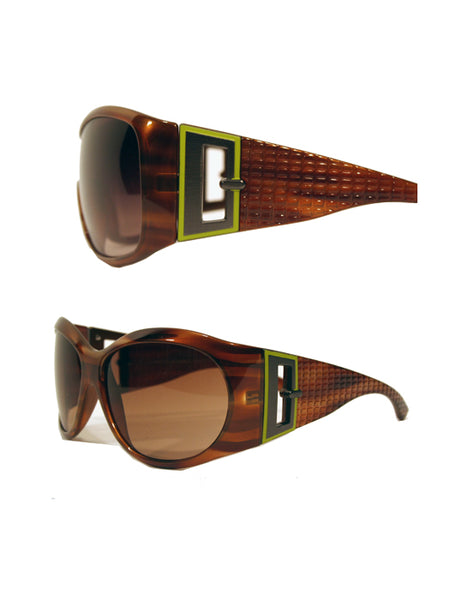 Ladies Designer Fashion Sunglasses by Francesco Biasia with Turtle Effect Rims & Tinted Lenses