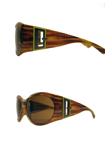 Ladies Designer Fashion Sunglasses by Francesco Biasia with Honey Turtle Rims & Tinted Lenses